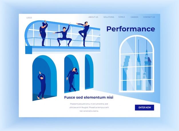 Performance D'art Contemporain, Bannière De Spectacle Moderne Vecteur Premium