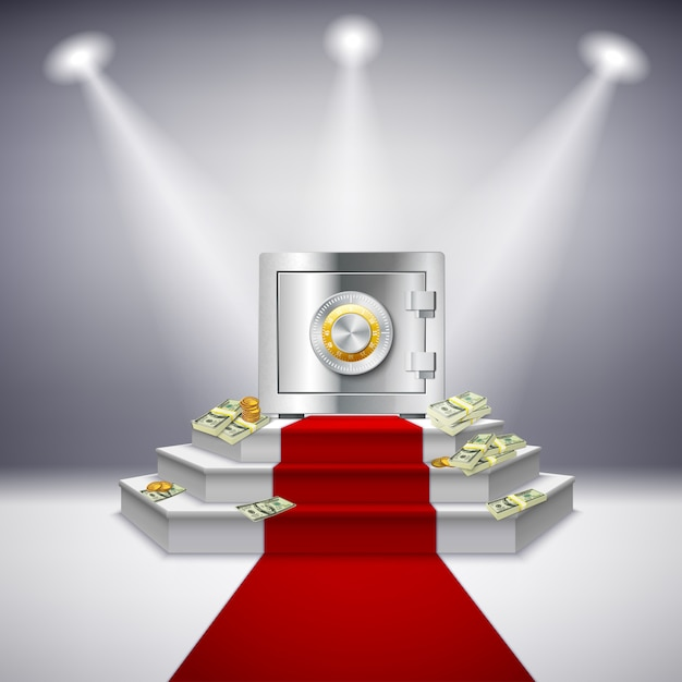Performance monétaire réaliste Vecteur gratuit
