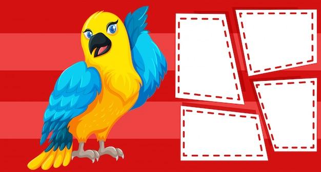 Perroquet sur note Vecteur gratuit