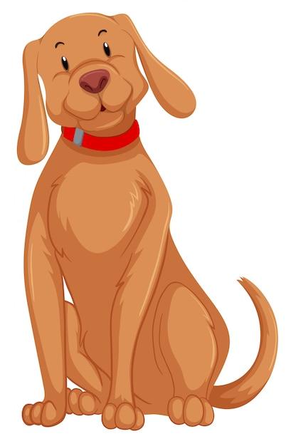 Un personnage de chien mignon Vecteur gratuit