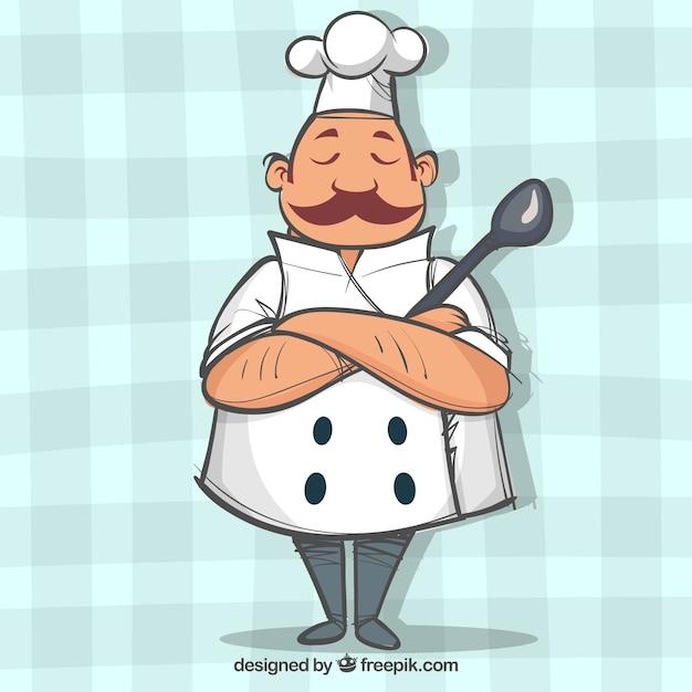 Personnage de chef aux bras crois s t l charger des vecteurs gratuitement for Cuisinier un bras
