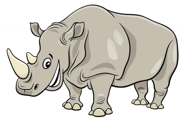 Personnage de dessin anim dr le de rhinoc ros animaux - Rhinoceros dessin ...