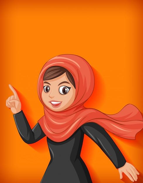 Personnage De Dessin Animé De Belle Dame Arabe Vecteur gratuit