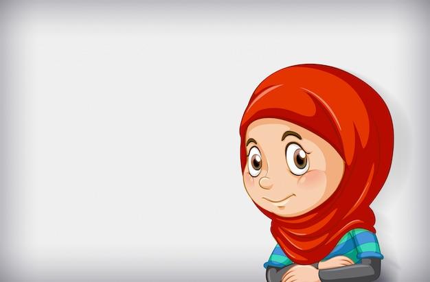 Personnage De Dessin Animé Fille Heureuse Vecteur gratuit