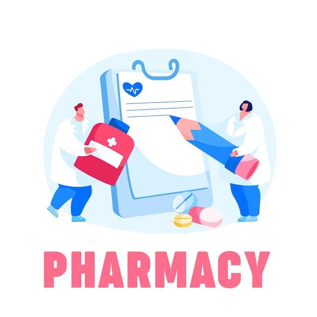 Le Personnage Du Médecin Porte Une énorme Pilule Pour La Prévention Des Maladies Vecteur Premium