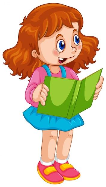 Un personnage de fille mignonne Vecteur gratuit