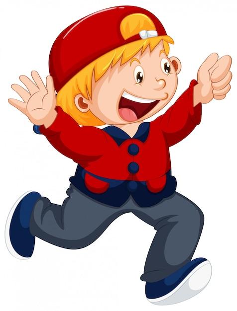 Un personnage de garçon mignon Vecteur gratuit