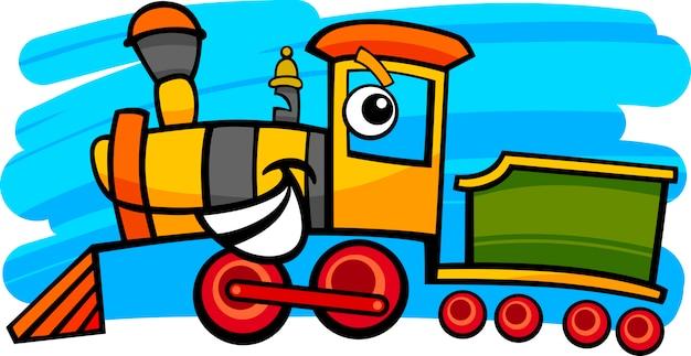 Personnage De Locomotive Ou De Train De Dessin Anime Vecteur Premium
