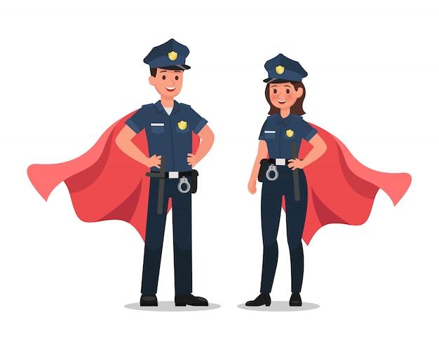 Personnage Policier Vecteur Premium