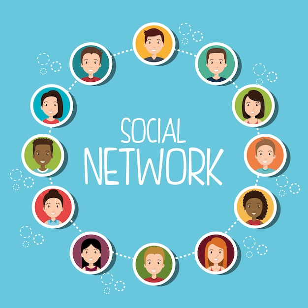 Personnes De La Communauté De Réseau Social Vecteur gratuit