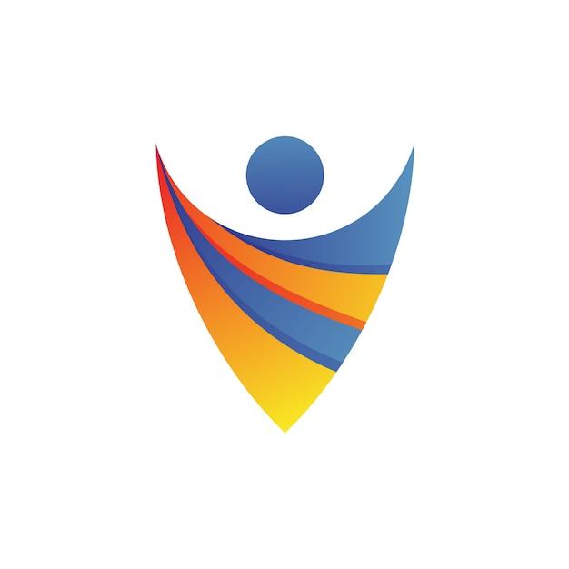 Personnes logo vector Vecteur Premium