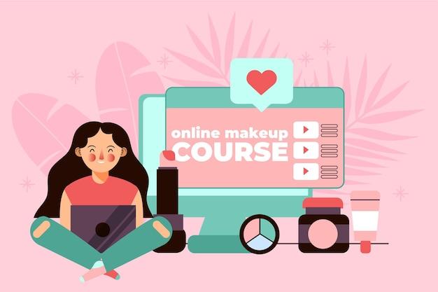Personnes Suivant Des Cours Et Apprenant En Ligne Vecteur gratuit