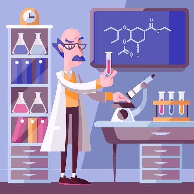 Personnes Travaillant Dans Un Laboratoire Scientifique Vecteur gratuit