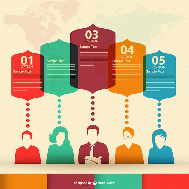 Personnes vecteur de communication infographie Vecteur gratuit
