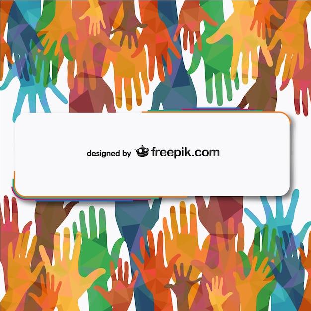 Personnes vecteur de mains tendues illustration libre Vecteur gratuit