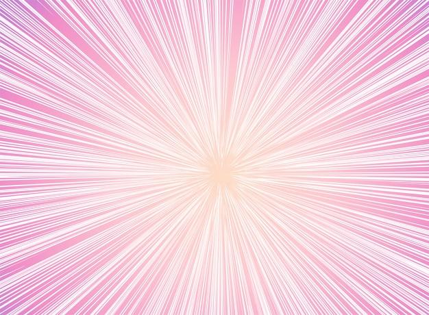 Perspective futuriste et fond de lumière de mouvement. Vecteur Premium