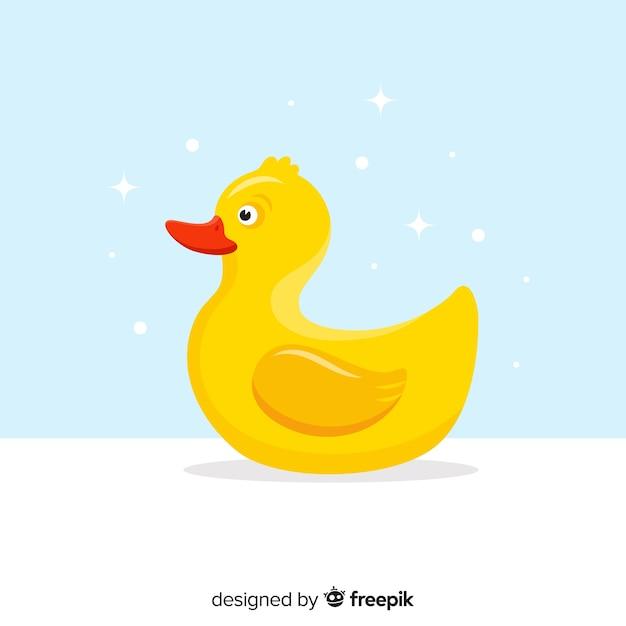 Petit canard en caoutchouc jaune Vecteur gratuit