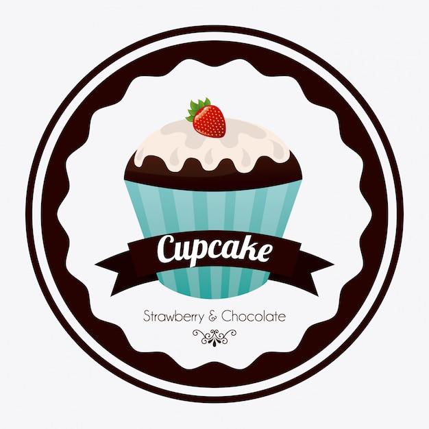 Petit gâteau Vecteur gratuit