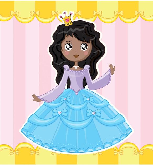 Petite princesse Vecteur Premium