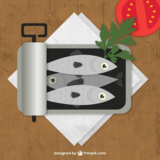 Peut d'anchois Vecteur gratuit