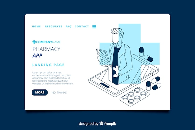 Pharmacie de destination Vecteur gratuit