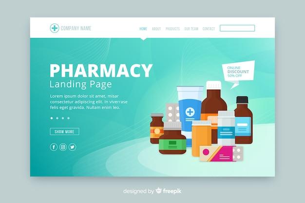 Pharmacie De Destination Vecteur Premium