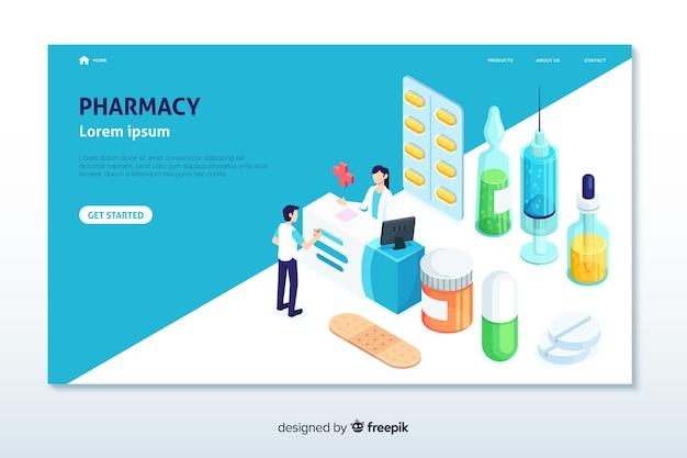 Pharmacie de destination Vecteur gratuit