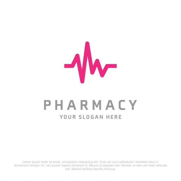 Pharmacie ecg logo Vecteur gratuit