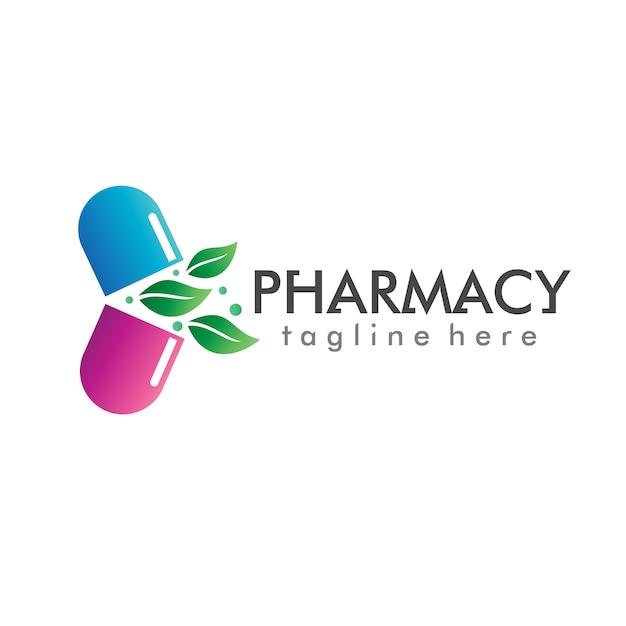 Pharmacie logo vector Vecteur Premium