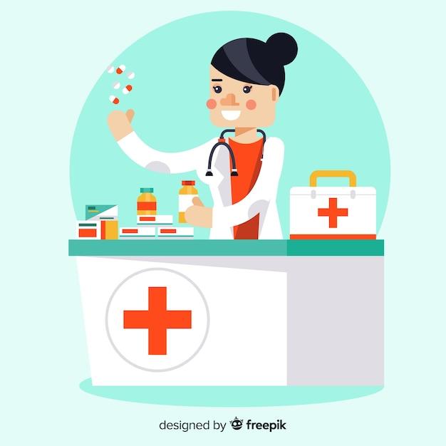 Pharmacien Vecteur gratuit