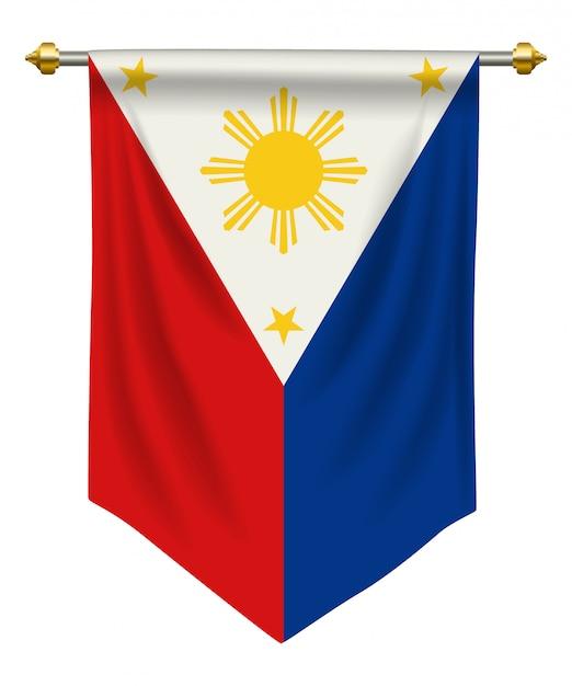Philippines pennant Vecteur Premium