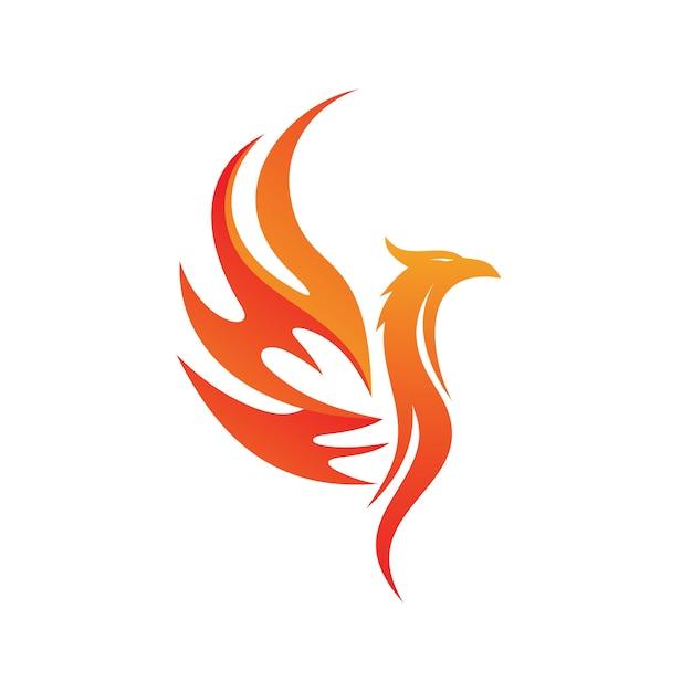 Phoenix logo vector Vecteur Premium