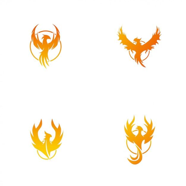 Phoenix logo Vecteur Premium