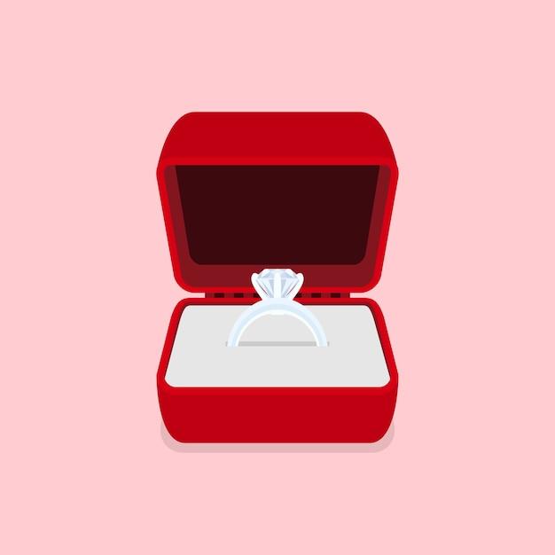 Photo D'une Bague Avec Diamant, Illustration De Style Vecteur Premium