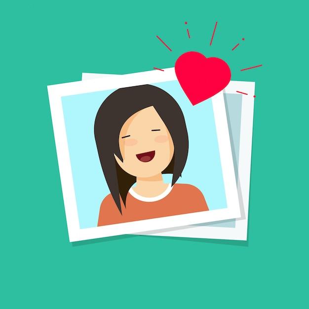 Photo de dessin animé plat d'amour fille vector illustration Vecteur Premium
