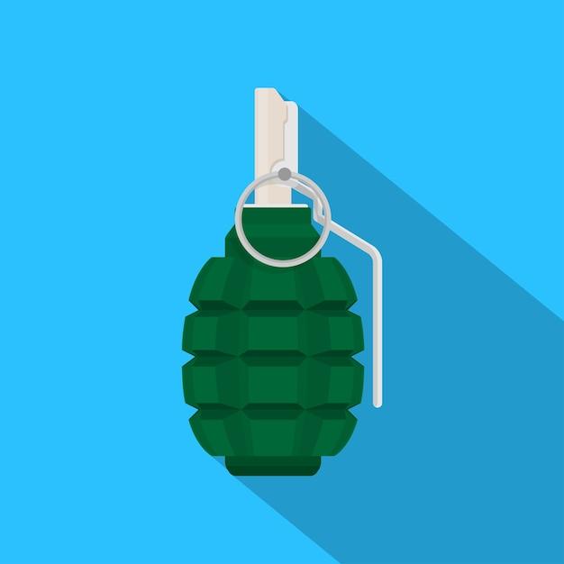 Photo De Grenade Verte Sur Fond Bleu, Illustration De Style Vecteur Premium
