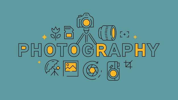 Photographie infographique Vecteur Premium