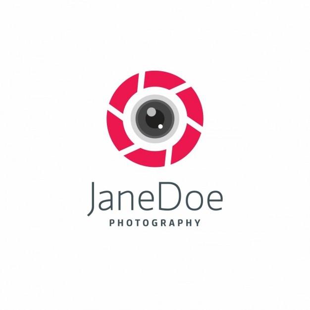Photographie Logo Rouge Modèle Vecteur gratuit