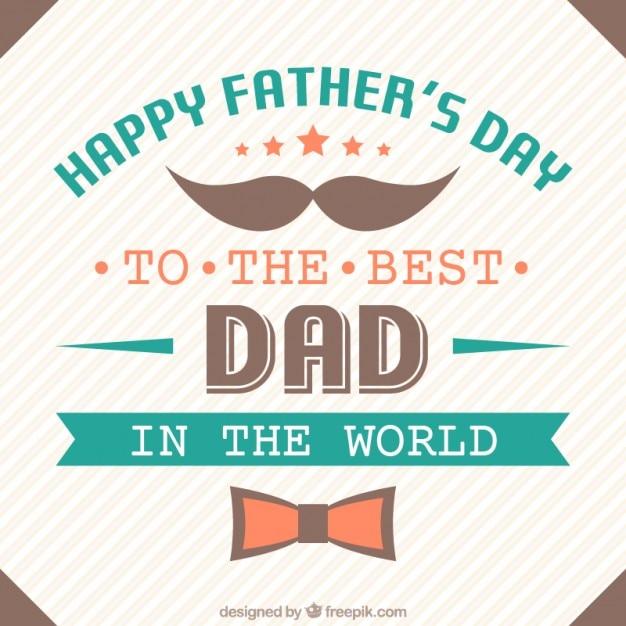 Phrase émotionnelle de la fête des pères Vecteur gratuit