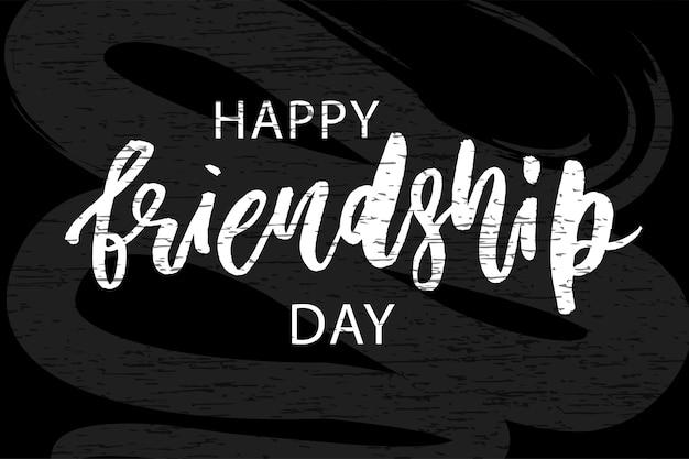 Phrase joyeuse journée de l'amitié Vecteur Premium