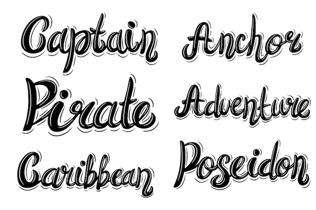 Phrase de lettrage dans un style vintage sur blanc Vecteur Premium
