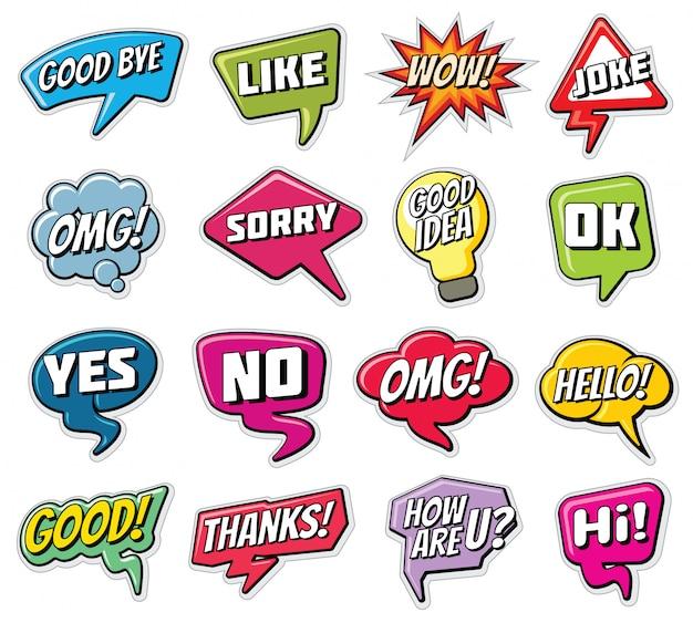 Phrases De Conversation Mots Comiques Droles Dans Le Jeu De Nuages De Discours Vecteur Premium