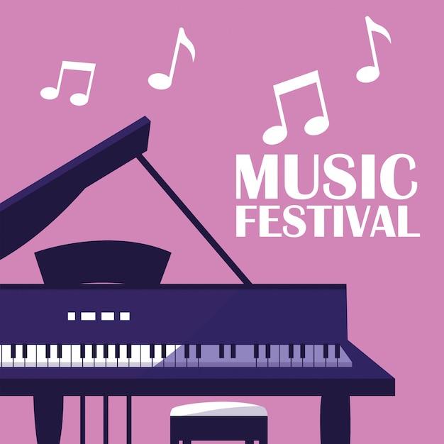 Piano instrument classique Vecteur Premium