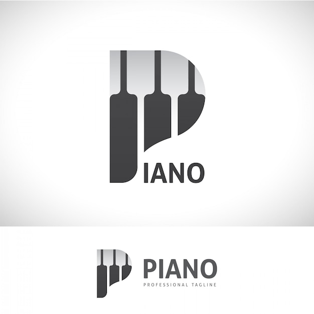 Piano p lettre logo Vecteur Premium