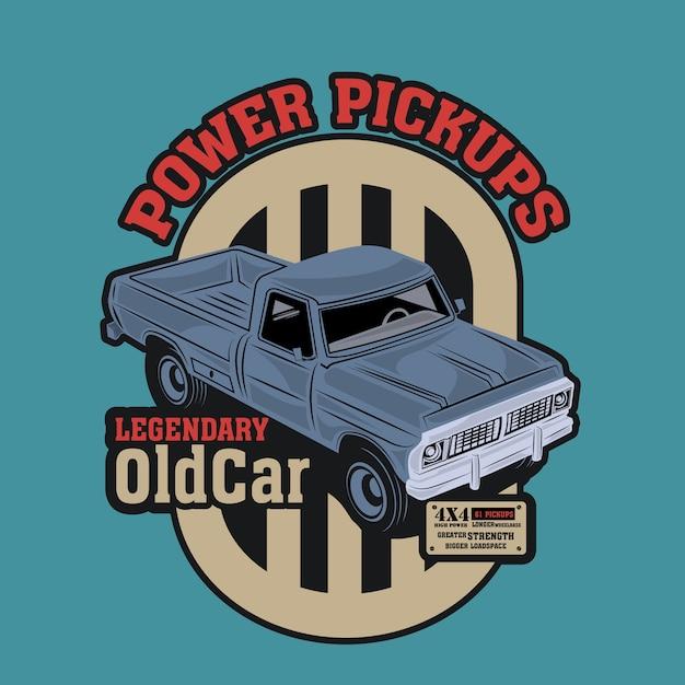 Pick-up classique avec un moteur d'étude Vecteur Premium