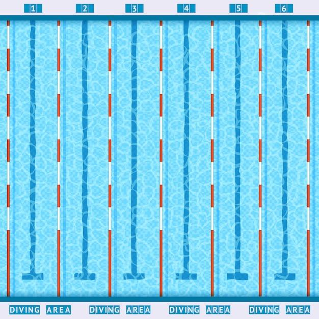 Pictogramme plat de vue de dessus de piscine Vecteur gratuit