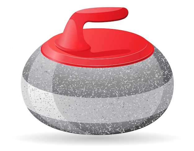 Pierre pour le curling illustration vectorielle de sport jeu Vecteur Premium