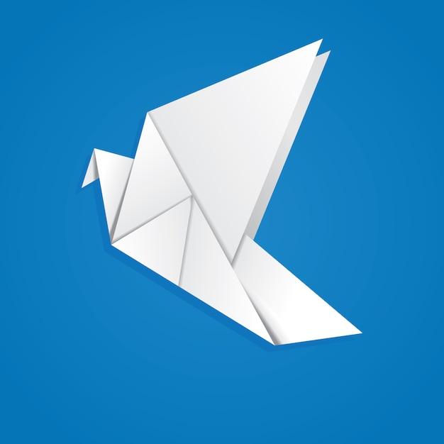 Pigeon origami Vecteur Premium