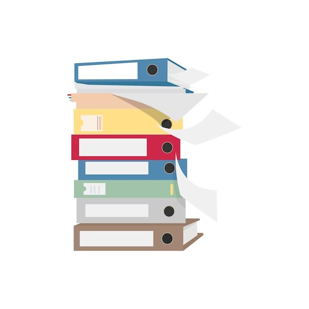 Pile D'illustration Graphique De Fichiers Et Dossiers Vecteur gratuit