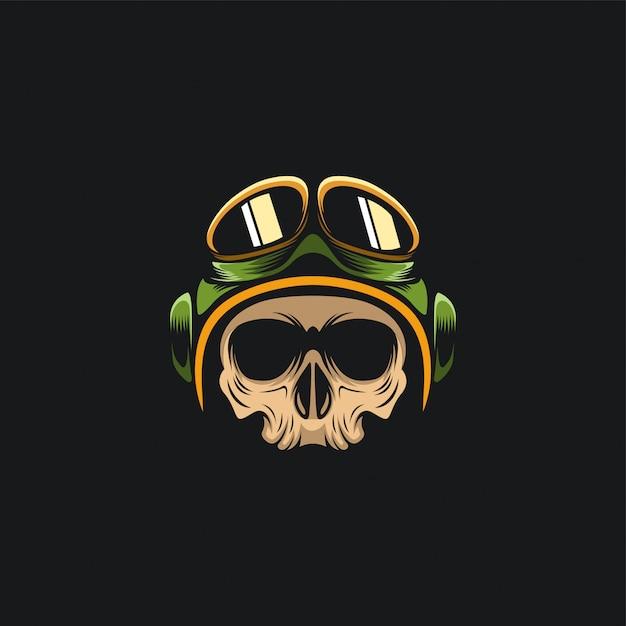 Pilote de crâne Vecteur Premium